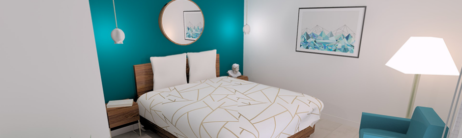 visuel chambre ambiance collection graphic