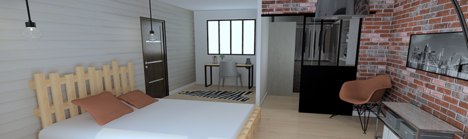 visuel chambre ambiance collection industriel
