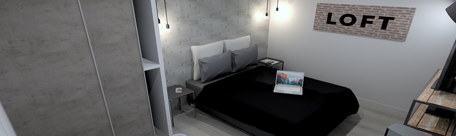 visuel chambre ambiance collection loft