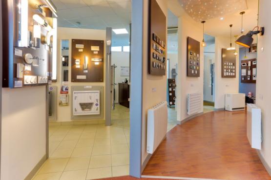 Showroom electricite eclairage SALLE EXPOSITION