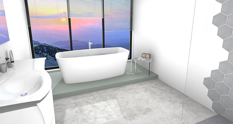 Visuel salle de bain ambiance collection design