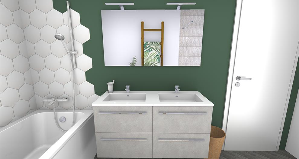 Visuel salle de bain ambiance collection jungle