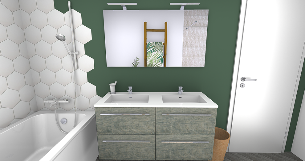 Visuel salle de bain ambiance collection jungle